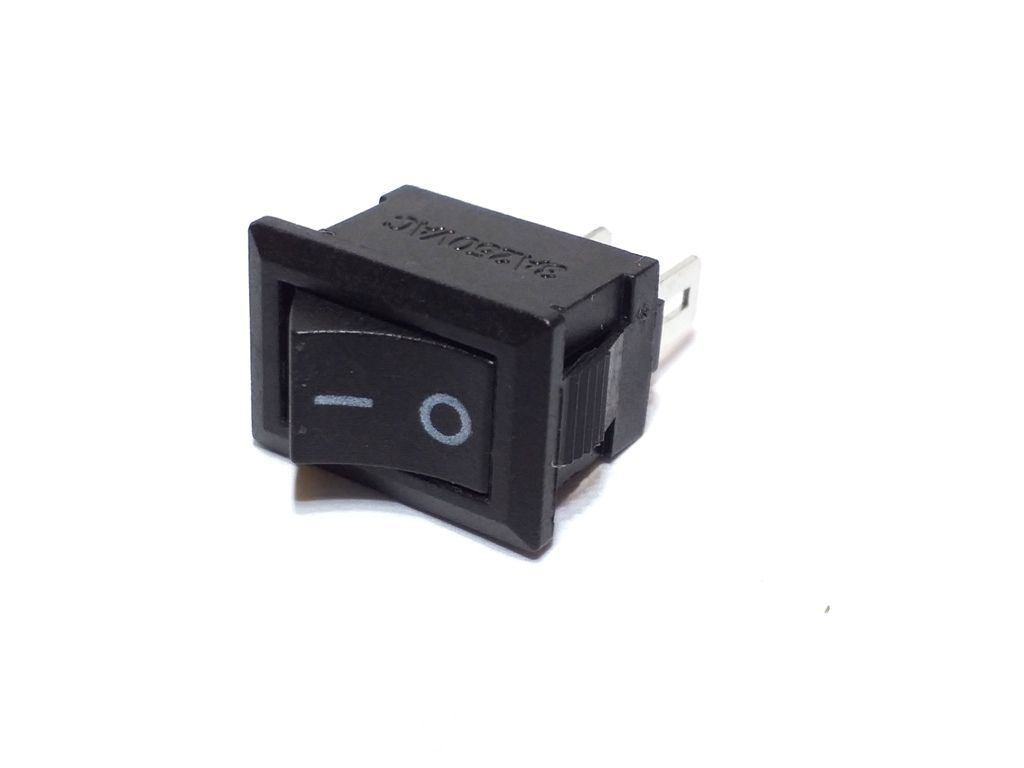 10 Chave Tic Tac mini KDC Preta On/Off 2Pos 2Term KCD5-101N