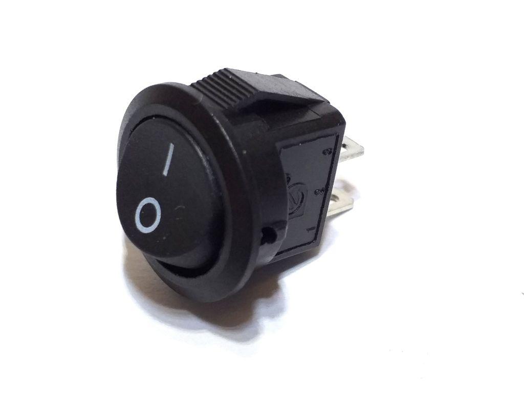 10 Chave Tic Tac Redonda Preta MINI On/Off 2 Pos 2 Term KDC5