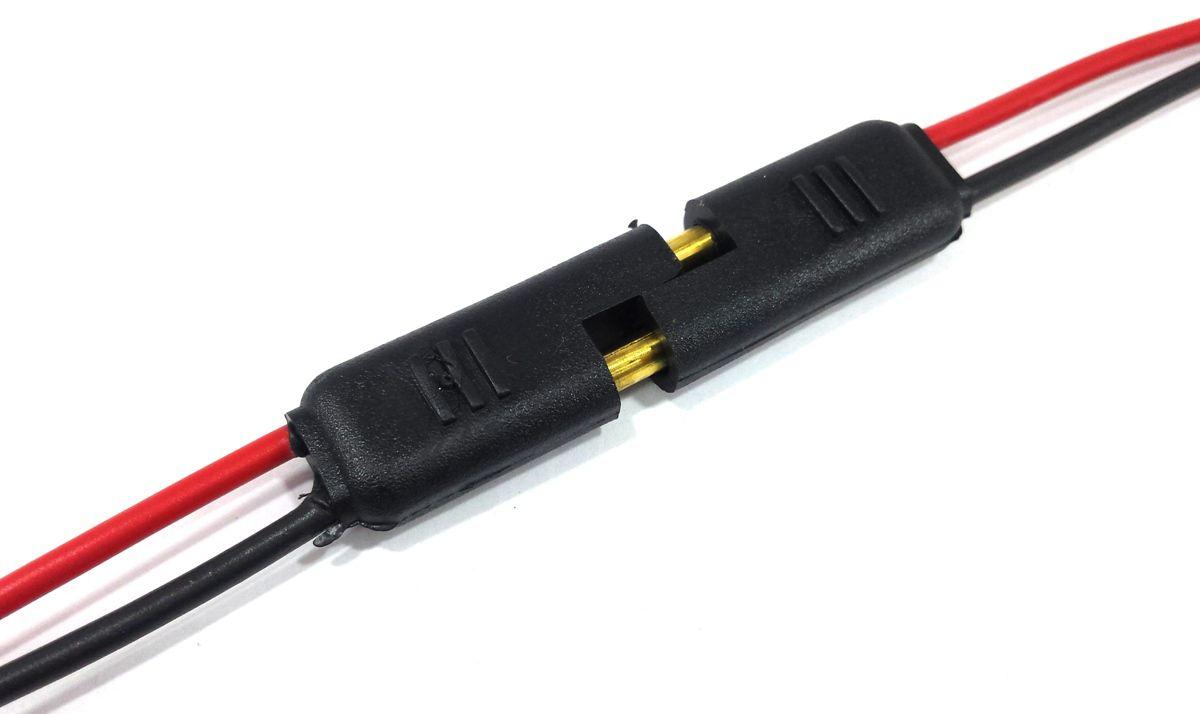 10 Conector 2 Vias com Fio 1,5 mm Chicote Plug Para Caixa