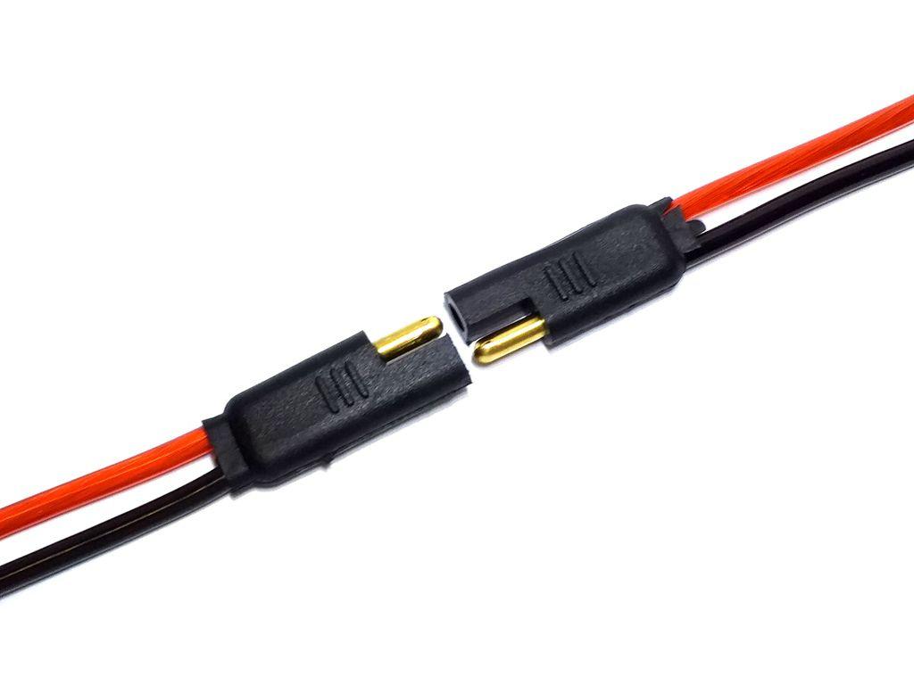 10 Conector 2 Vias com Fio 4,0 mm Chicote Plug Para Caixa