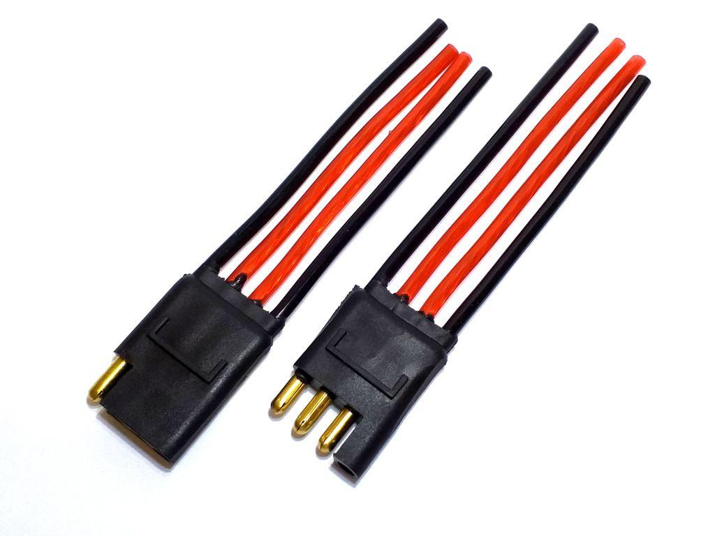 10 Conector 4 Vias com Fio 4,0 mm Chicote Plug Para Caixa