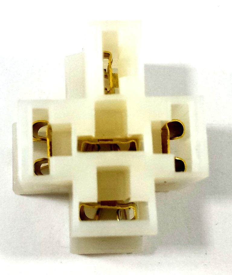 10 Conjunto Conector 5 Vias com Terminal P Rele 4 ou 5 Pinos