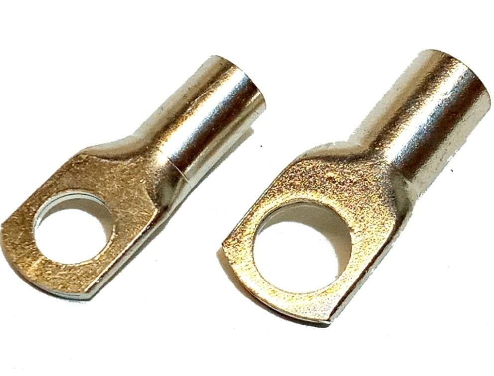 12 Terminais Olhais de Cobre de 25mm e 35mm M10 - 6 De Cada