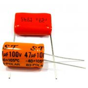 10 Capacitor Bipolar 47x100 e 10 Capacito Poliester 2m2 250v