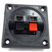 2 Conector Borne Quadrado para Caixa Acustica 1 Via 5,6 Cm