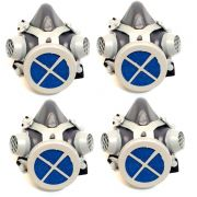 4 Repirador Semi Facial 1/4 Mascara ALLTEC Pff2 Com Filtro