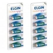 Bateria A23 Elgin Pilha 12V Controle Portão 10 Unidades