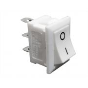 Chave Botão Tic Tac KCD1 Branca Liga/Desliga 3T 2P - 10 Unid