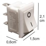 Chave TicTac Para Luminárias Liga/Desliga Branco - 10 Botões