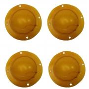 Combo 4 Reparos Parcial Driver Corneta Jarrão D300 D305 Membrana 8 Ohms Compatível Fenólico 75W D 300 D 305