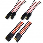Conector 4 Vias Com fio de 4mm e 2 Plugs 2 Vias c Fio 1,5mm