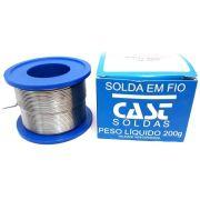 ESTANHO SOLDA 200 GRAMAS CAST METAIS  60X40 - 189MS X 10MM