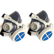 Kit 2 Mascara Repirador Facial 1/4  ALLTEC Pff2 Com Filtro