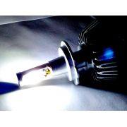 KIT LÂMPADA SUPER LED 2D H3 - 40W 8000K - E-TECH - 7200 LUMIENS - PAR