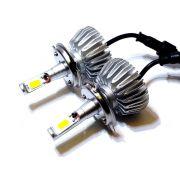 KIT LÂMPADA SUPER LED 2D H4 - 40W 8000K - E-TECH - 7200 LUMIENS - PAR