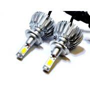 KIT LÂMPADA SUPER LED 2D H7 - 40W 8000K - E-TECH - 7200 LUMIENS - PAR