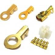 Kit Terminal Fêmea 6,3mm Porta Reles e Olhais 3/8 1/4 e 3/16