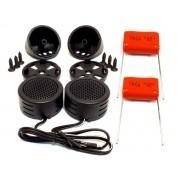 Mini Tweeter Alta Frequência 600w e Capacitores Painel Porta