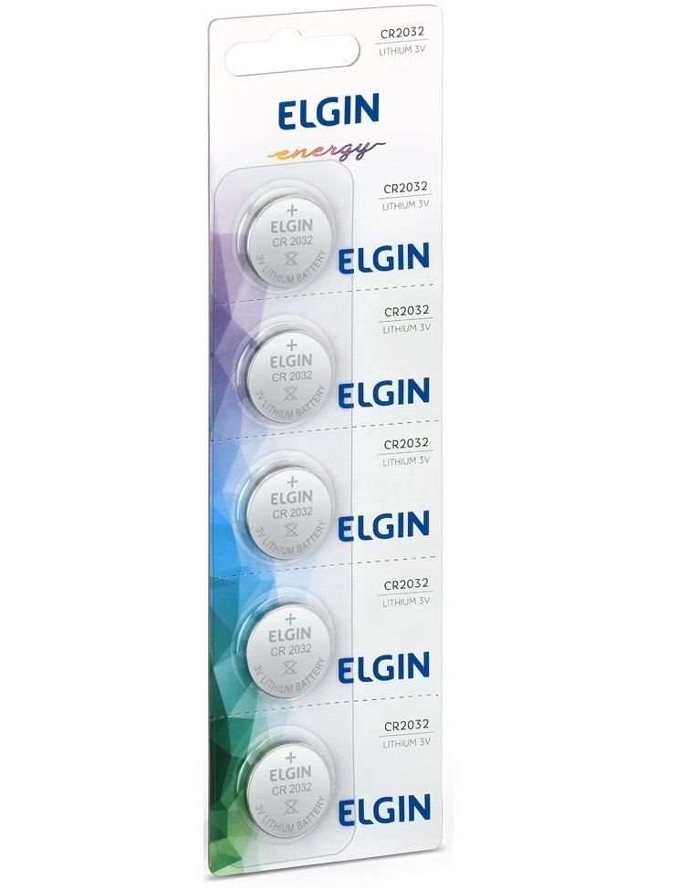 20x Bateria Elgin CR2032 Lithium 3 Volts Battery Lítio 2032