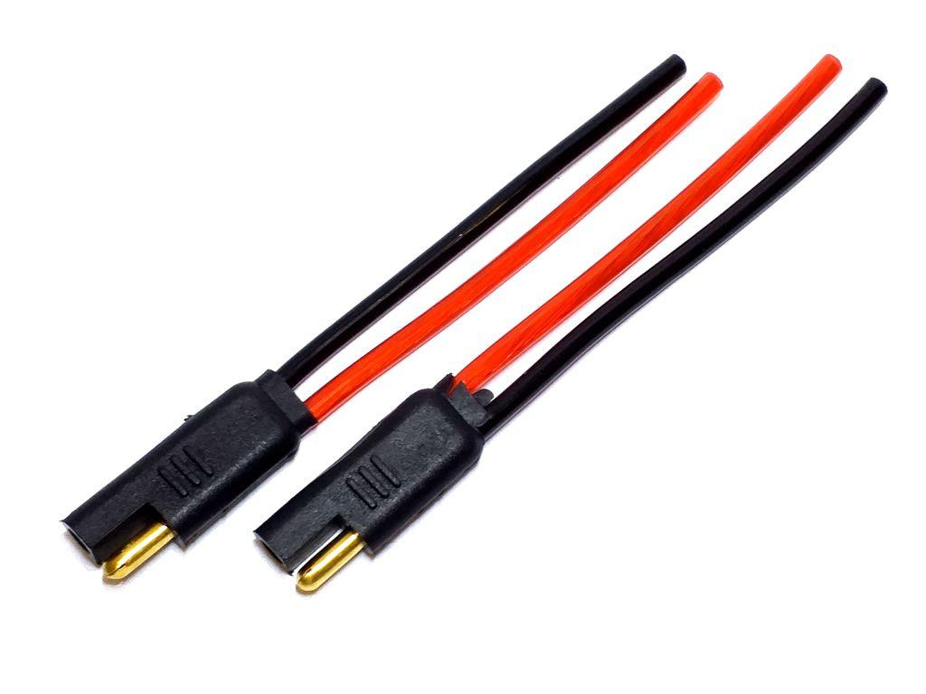 25 Par Conector 2 Vias com Fio 4,0mm Conector Som Automotivo