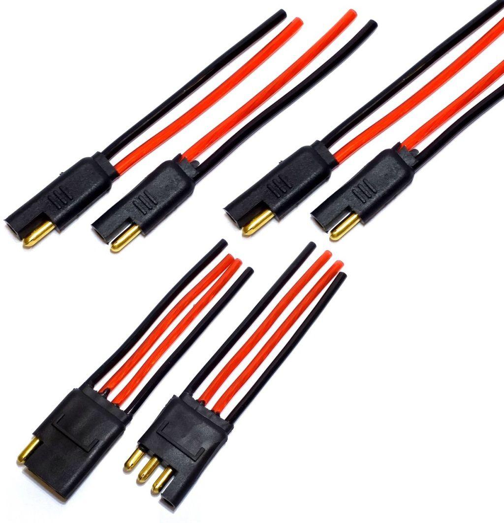 2 Conector 2 Vias e um 4 via com Fio 4,0 MM Conectores Caixa