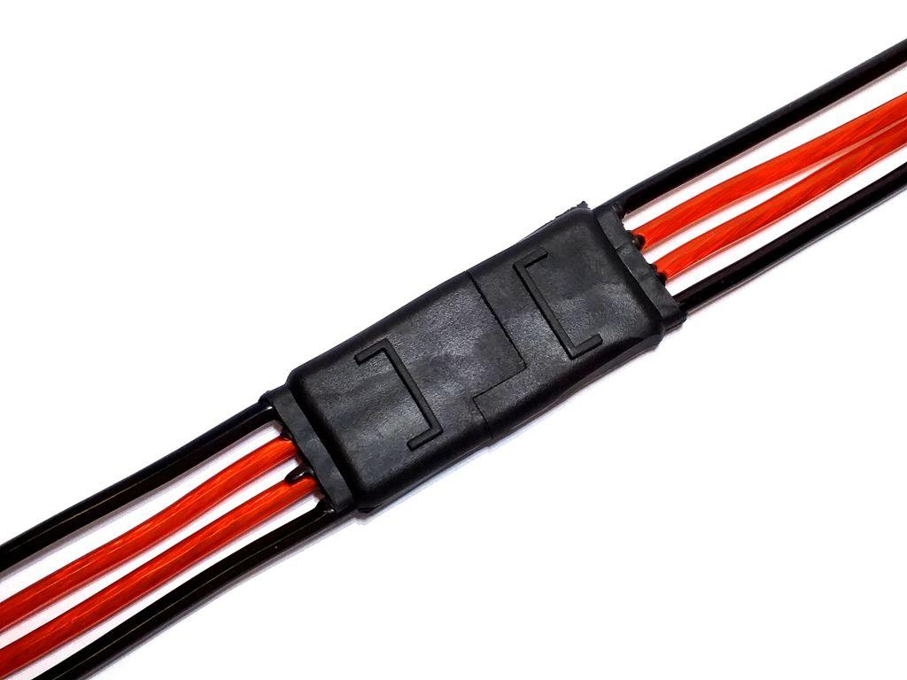 3 Conectores 4 Vias com Fio 4,0 mm Chicote Plug Para Caixa