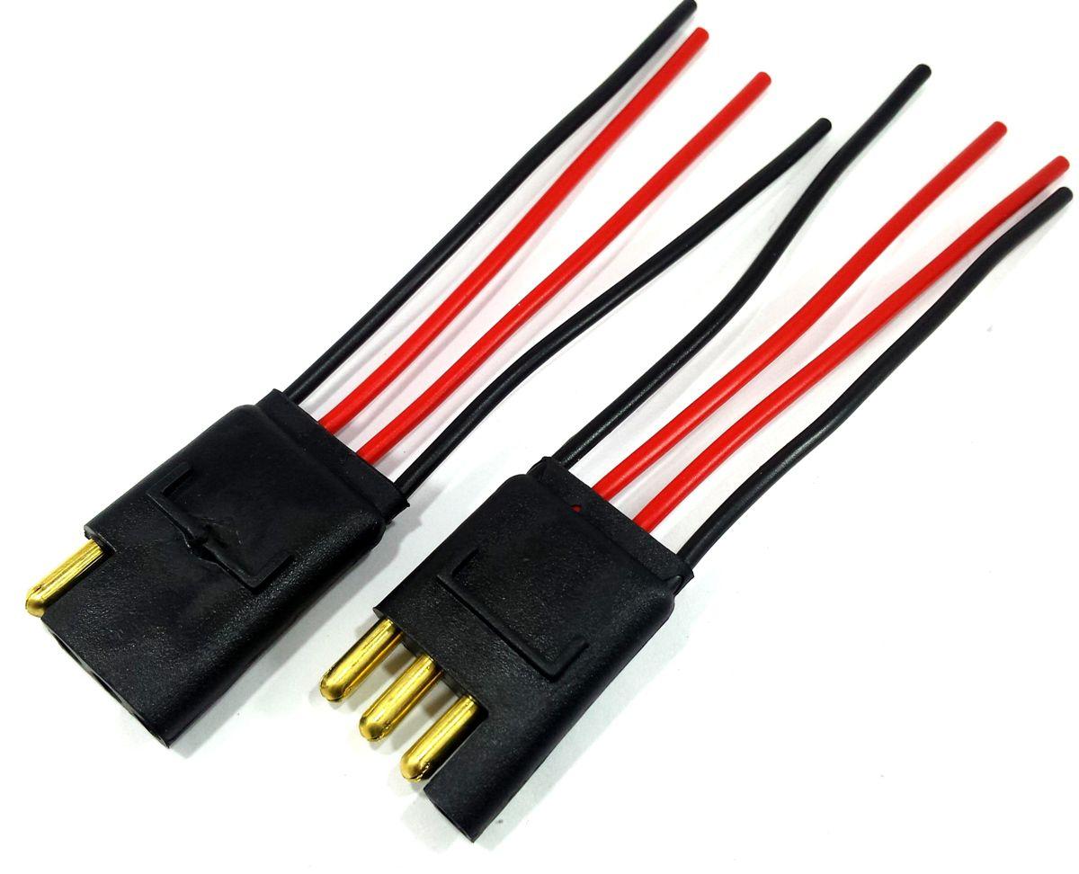 4 Plug 4 Vias Fio 1,5mm, 2 de 2 Vias 1,5mm e 1 de 2 Vias 4mm
