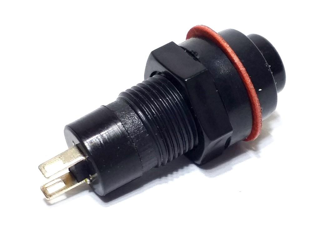 50x Botões Pulso Preto Redondo Interruptor Pulsante DS-213