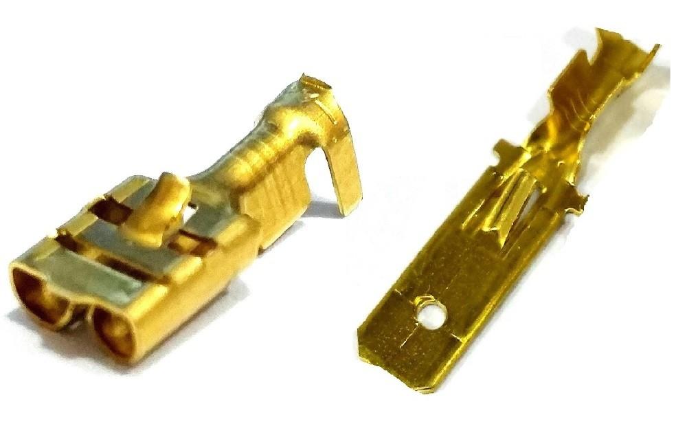 600 Terminal Fêmea 6,3 mm e 600 Terminais Espada Macho