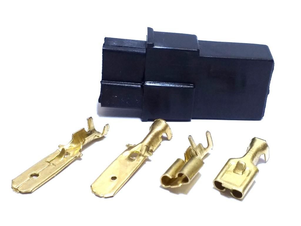 70 Conector 2 Via e 30 Conecotes 4 vias Terminal de 6,3mm