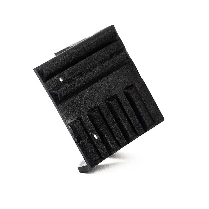 8x Cantoneiras Plásticas Preta Acabamento Para Caixas De Som
