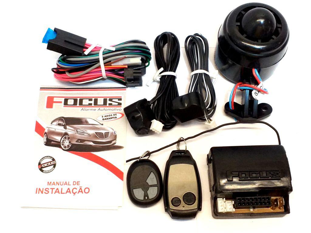 ALARME AUTOMOTIVO C/ BLOQUEADOR FOCUS AUTOMOTIVE - C/ 2 CONTROLES