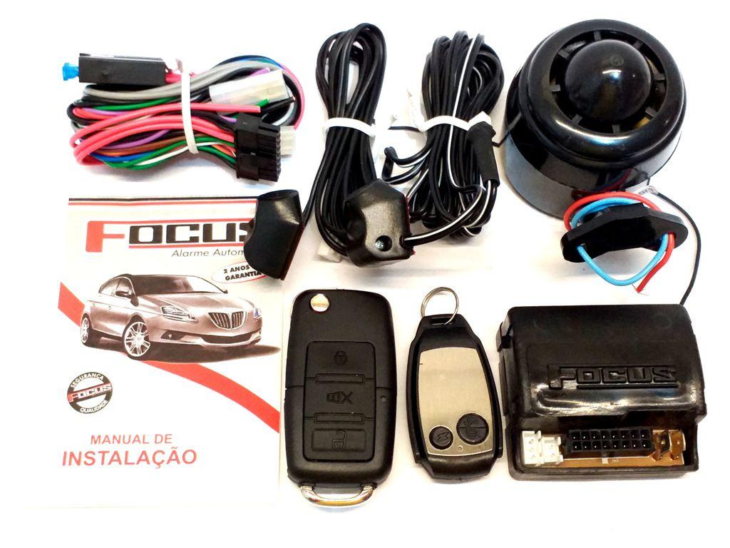 ALARME AUTOMOTIVO C/ BLOQUEADOR FOCUS AUTOMOTIVE - C/ CHAVE CANIVETE