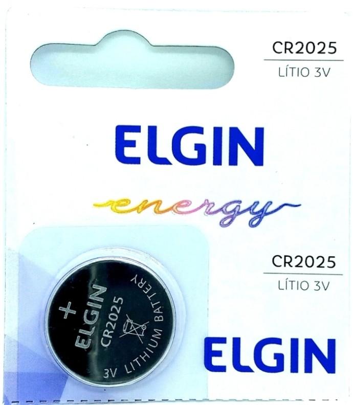 Bateria CR2025 Elgin Lítio Pilha Moeda 3 Volts 5 Unidades