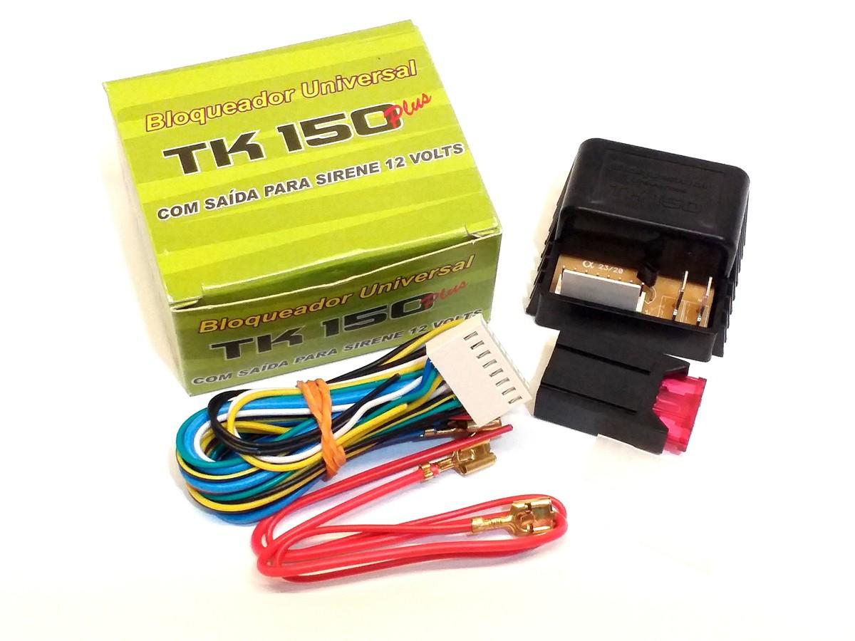 BLOQUEADOR TK150 PLUS COM SAIDA P SIRENE TK 150 AUTOMOTIVO