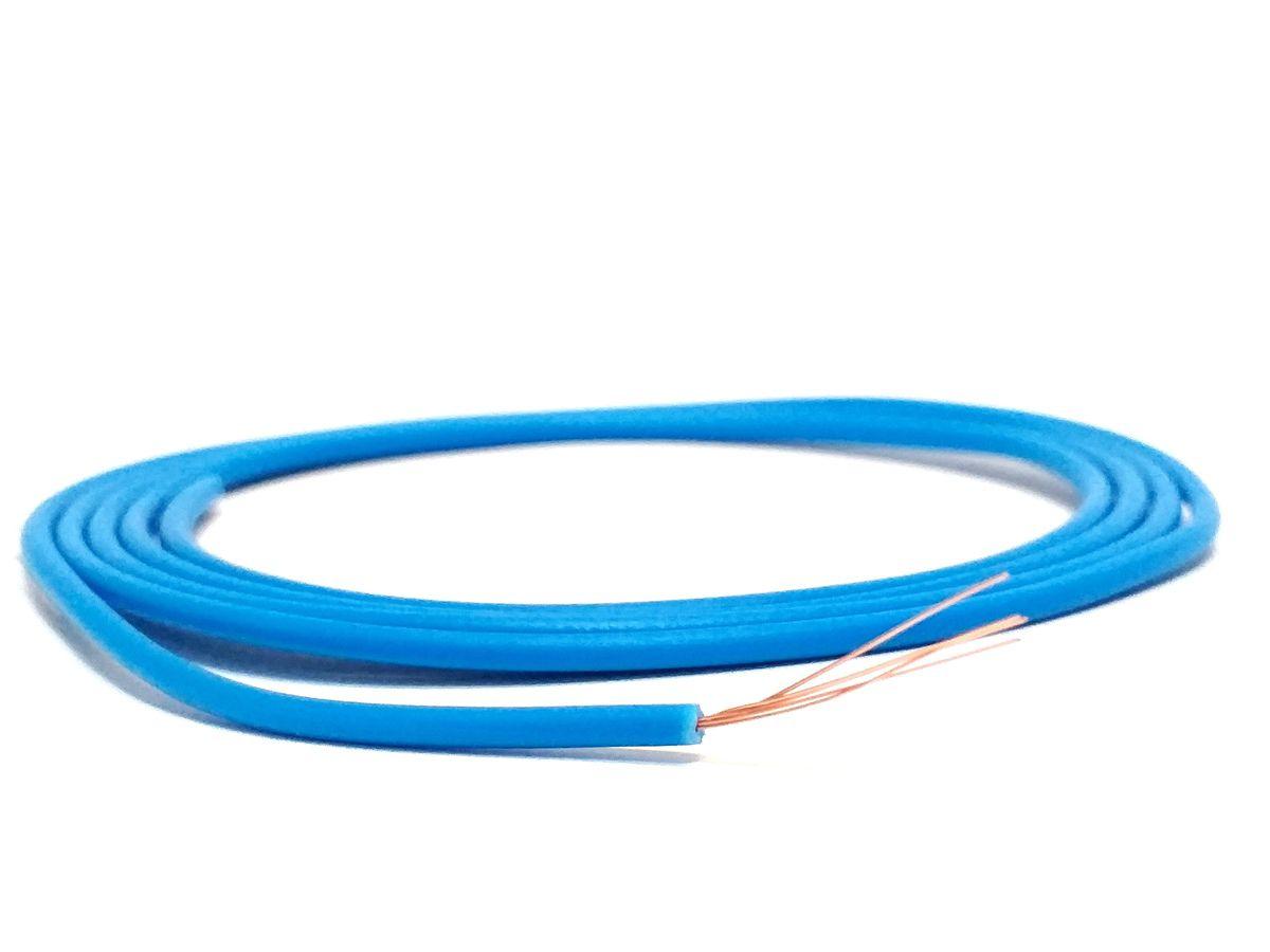 Cabo Auto 1 X 0,50 mm Azul Fio Remoto Cabinho 10 Metros