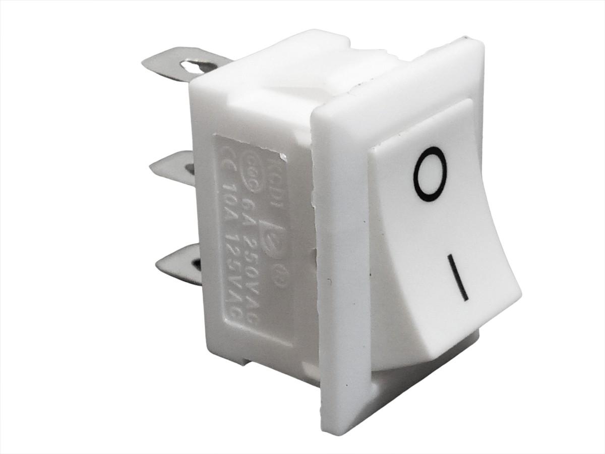 Chave Gangorra Liga Desliga Branca On Off 2P 3T 10 Unidades