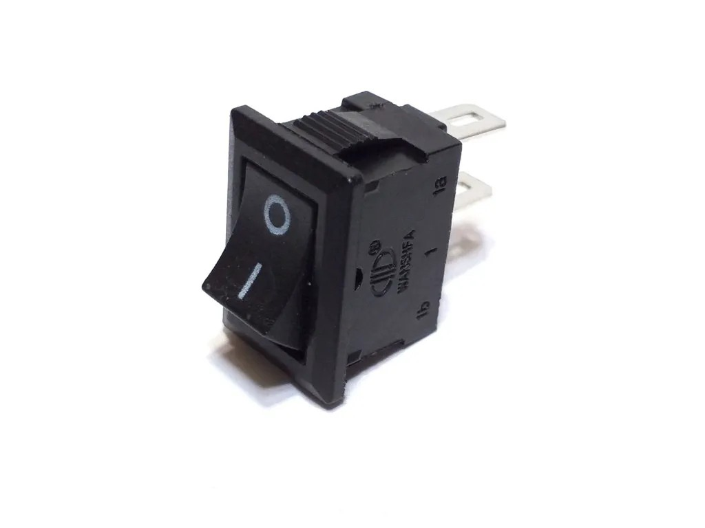 Chave Mini Preta Tic Tac Liga Desliga 2P 2T KCD11 10 Unidade