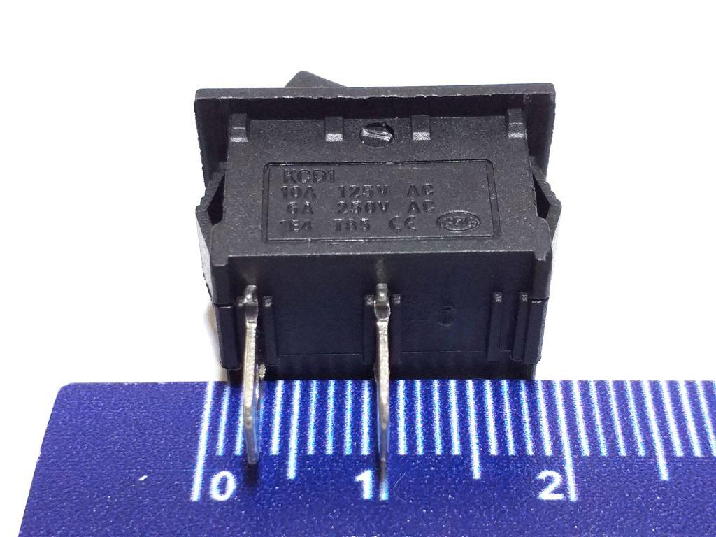 CHAVE TIC TAC KDC PRETA ON/OFF - 2 POS. - 2 TERM. - KCD1-101