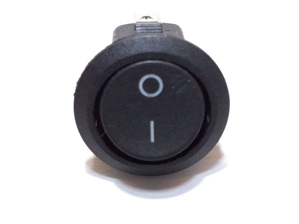 Chave Tic Tac Redonda Preta 2T ON-OFF KDC1-106 2P 10 Unidade