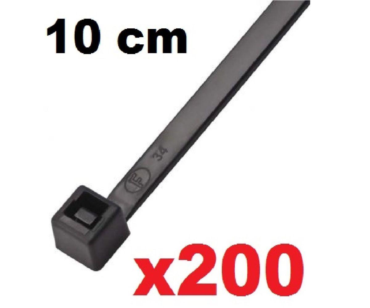 CINTA PLASTICA 10 CM - ABRAÇADEIRA NYLON PRETA 1,0 X 2,5 X 100 MM - 200 UNIDADES