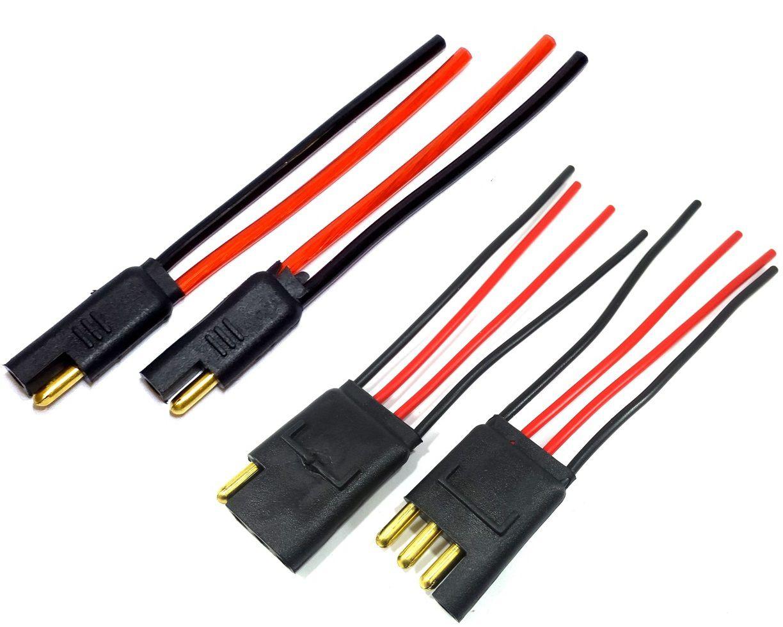 Conector 2 Vias Com fio de 4mm e Conector 4 Vias c Fio 1,5mm