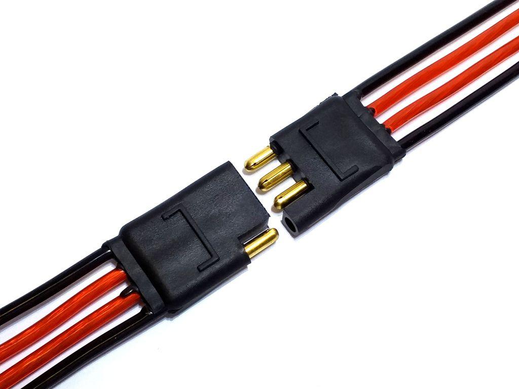 CONECTOR 4 VIAS C/ FIO 4,0 MM - CHICOTE PLUG P/ CAIXA