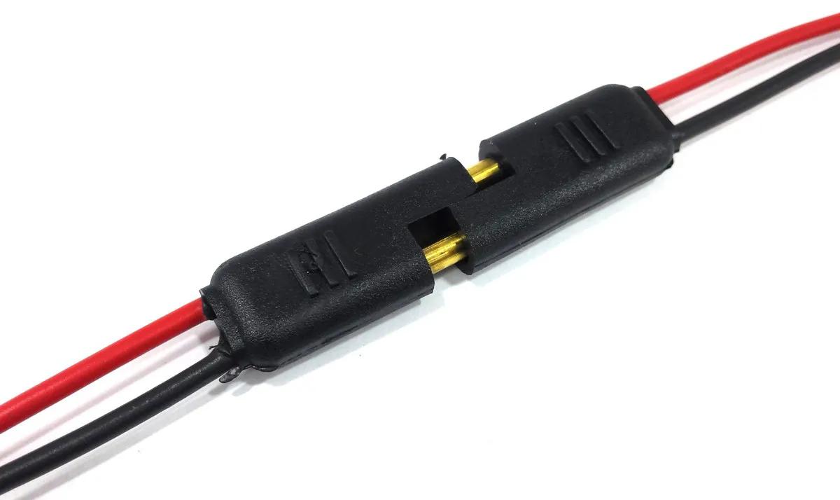 Conector Home Teather 2 vias Emborachado com fio 1,5mm Plug