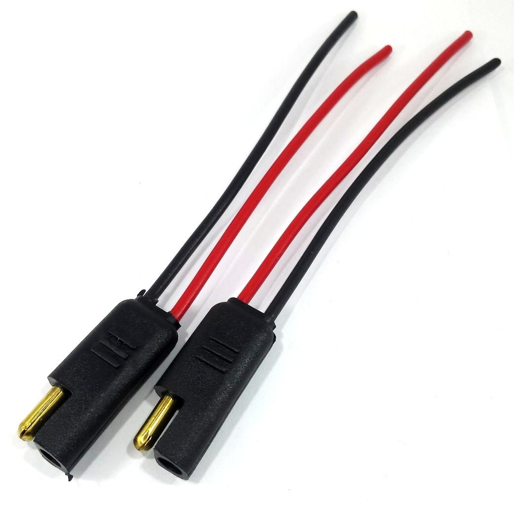 Conector para Home Teather 2 vias com fio 1,5mm com 4 Pares