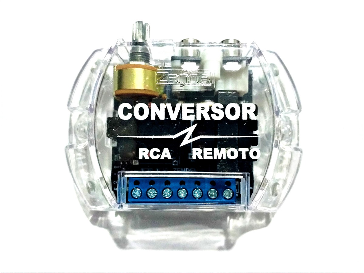 CONVERSOR RCA REMOTO ZENDEL COM FILTRO E CONTROLE DE GANHO