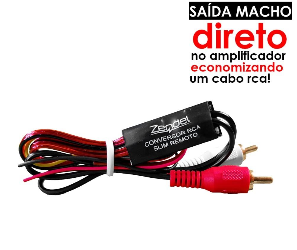 CONVERSOR RCA SLIM REMOTO ZENDEL ENTRADA VIA FIO SAIDA RCA