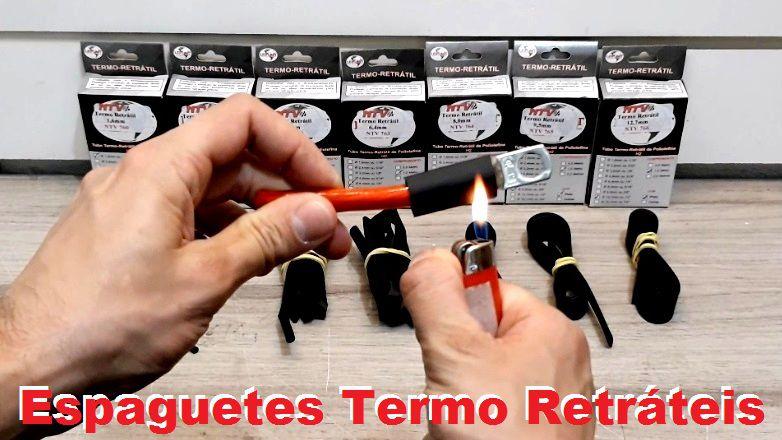 Espaguete Termo Retrátil Kit C 7 Metros Do 1,6mm Ao 12,7mm
