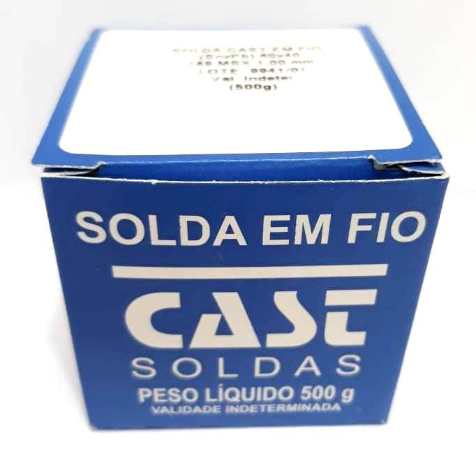 ESTANHO SOLDA 500 GRAMAS CAST METAIS 60X40 - 189MS X 10MM