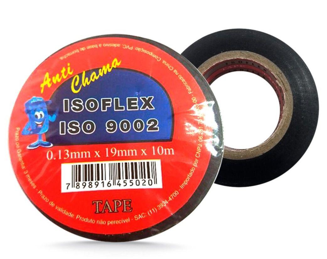 FITA ISOLANTE ISOFLEX 10 METROS - 0,13MM X 19MM X 10M